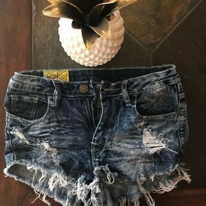 Destroyed Jean Shorts